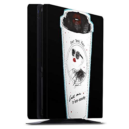 DeinDesign Skin kompatibel mit Sony Playstation 4 Slim PS4 Aufkleber Folie Sticker Coffee Kaffee Becher