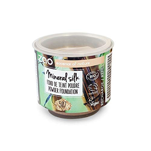 Zao Refill Mineral Silk 507 Recharge pour maquillage minéral en poudre libre (bio, végétalien, cosmétique naturel) 111507