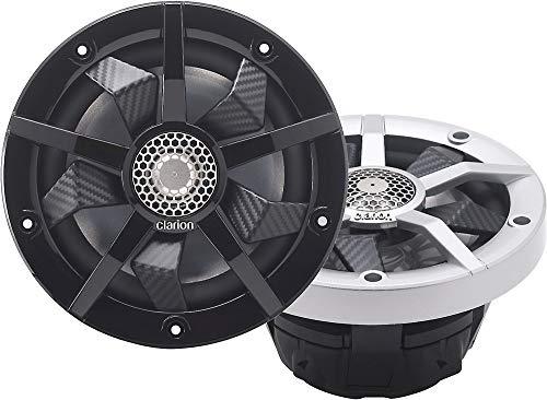 "Clarion Speakers CM1623RL Speakers, 6.5"" 2-Way W/LED, Silver+Black"