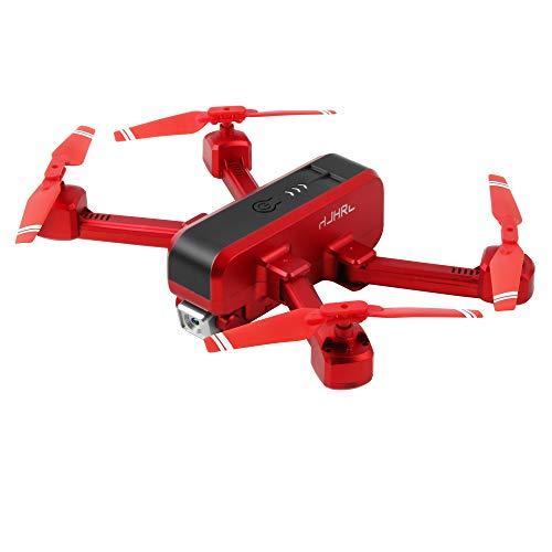 SNOWINSPRING HJ96 RC Drone 1080P HD WiFi FPV Drone CáMara Dual Foto de Gesto de RetencióN de Altitud Juguetes Quadcopter Plegables para Ni?Os Rojo