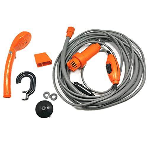 Lavadora de coches Camping Viajes Ducha Universal Sistema de ducha portátil Bomba eléctrica portátil en interiores y exteriores para ducha Limpieza Senderismo Lavadora para mascotas (Color : Orange)