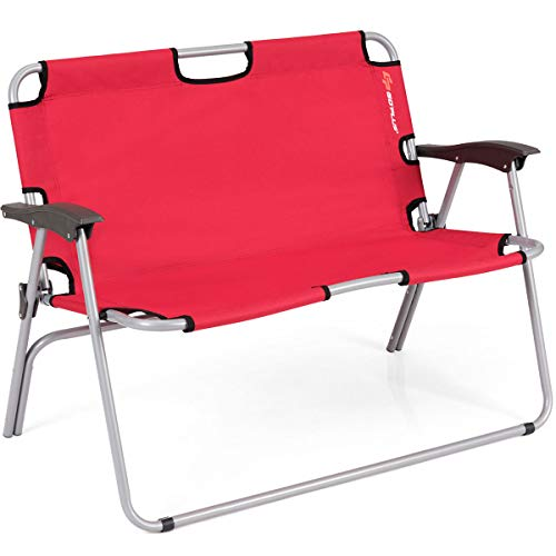 Multigot 2-Person Folding Aluminum Seat, Portable Outdoor Indoor Lounger...
