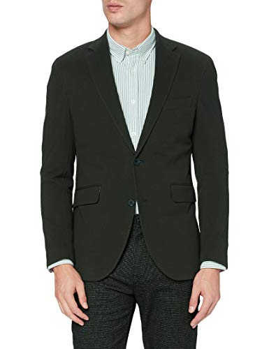 Hackett London Pique Knit Chaqueta, Verde, 48 Regular para Hombre