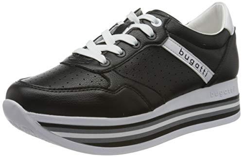 bugatti Damen 431880025050 Sneaker, Schwarz (Black/White 1020), 36 EU