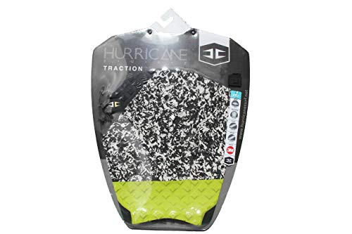 Hurricane K2 - Almohadilla de agarre para tabla de surf, negro/lima/madcow/negro