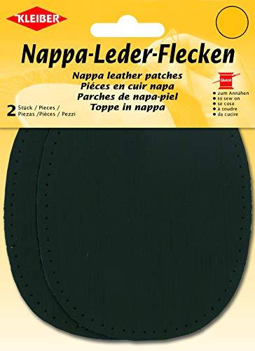 Kleiber 850-04 Ellbogen- und Knieflicken aus Nappaleder zum Aufnähen, schwarz, 2-er Set
