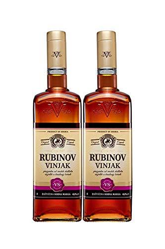 Weinbrand Vinjak (2x Vinjak (Vignac) Rubin VS Weinbrand 1 l)