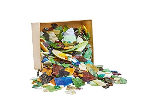 2kg Bruchmosaik-Glas Größen- und Farbenmix VBS Großhandelspackung Bruchstücke Mosaik Steine Fliesenbruch Bastelmosaik Glasscherben bunt gemischt Tiffanyglas