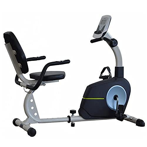 Bicicleta de ejercicios reclinada magnética para entrenamiento de mediana edad y ancianos para adultos mayores, equipo de fitness de ciclismo magnético para interiores para entrenamiento en casa
