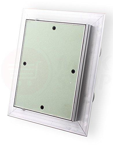 Revisionsklappe GK-Einlage 80 x 80 cm 25 mm doppelt beplankt Gipskarton Revisionstür Revision Wartungstür (800x800x25 mm) Wartung Reinigungsklappe Wartungsöffnung mit Alu-Rahmen Feuchtraumgeeignet grün Trockenbau