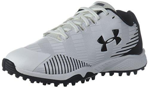 Under Armour Women's Finisher Turf Lacrosse Shoe, White (100)/Black, 5.5