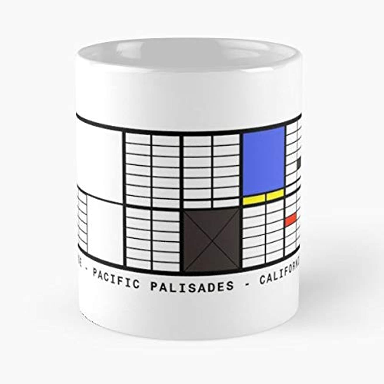 Eames House Architecture California Los Angeles - Ceramic Novelty Mugs 11 Oz, Funny Gift