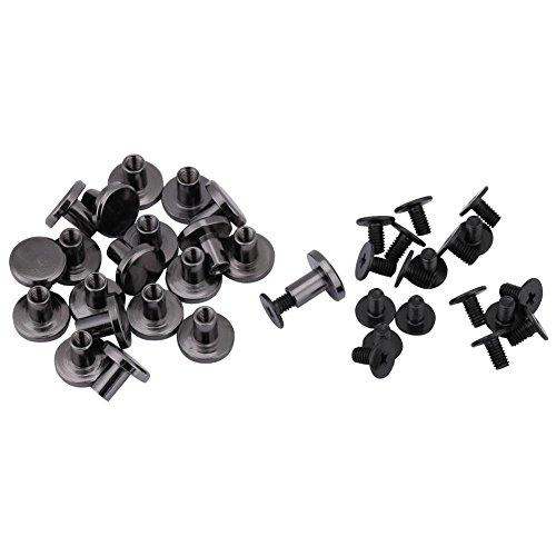 20 sets DIY Messing Flachkopf Gurtband Nieten + Schraube für Gepäck Lederhandwerk 5mm 8mm Nieten Strap Griff Tasche Zubehör(8mm)