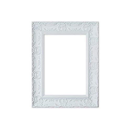 Cadre Photo/Cadre affiches LARGE Orné Minable Chic Antique Style Swept - avec Support en MDF - Prêt à être suspendu - avec Feuille Perspex - couleur Muse blanc mat - A4