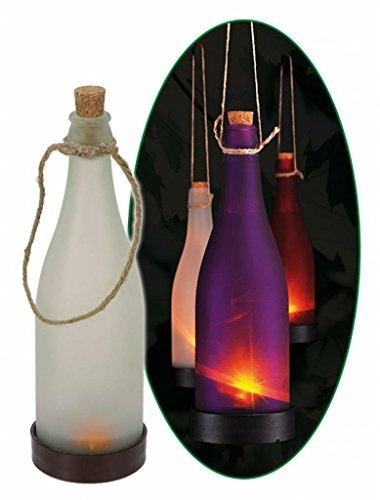 Solarlampe Flasche Solarflasche 3er Set weiss rot violett 70256-3