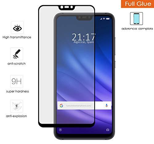 Protector De Cristal Templado Completo Full Glue Negro para Xiaomi Mi8 Lite Vidrio