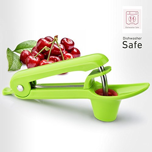Cherry Pitter Tool, IFHTech Olive Pitter Tool, Quick Easy Cherry Stoner One Hand Operation Cherry Core/Seed Remover with Scoop Design Dishwasher Safe Pitter Tool