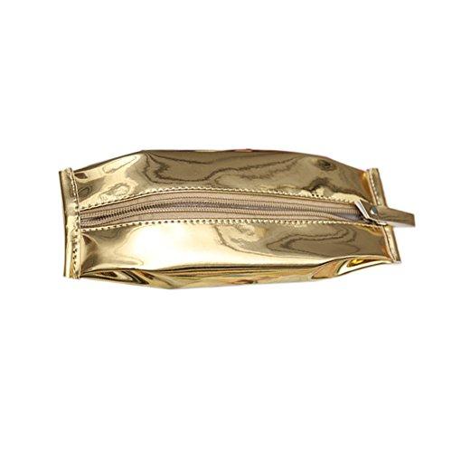 fablcrew Tasche Bleistift Tasche von Desktop-Effekte des Studenten Form der Börse von Kekse 20x7CM gold