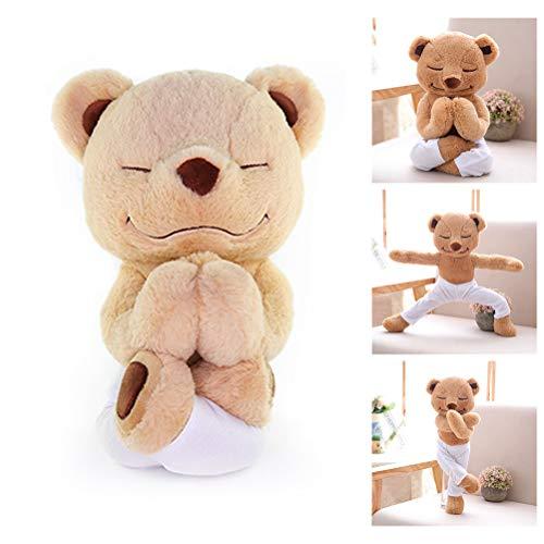 Naduew Creative Soft Yoga Bär Plüschtiere, Meddy Teddy Nette Cartoon Puppe Lächeln Faltbarer Bär Schöne Spielzeuge Tier Weiche Bequeme Puppen Für Kinder Baby Kinder