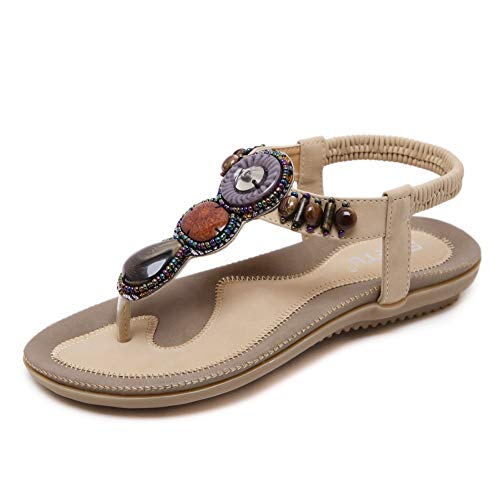 (35% OFF Coupon) Bohemian Beaded Sandals $17.54