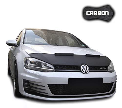 Protezione Cofano Leon 3 5F CARBON Copertura Cofano Car Bra Auto NERO Front Maschera Bonnet Tuning