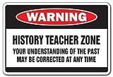 [SignJoker] HISTORY TEACHER ZONE Warning Sign school supplies fun Wall Plaque Decoration