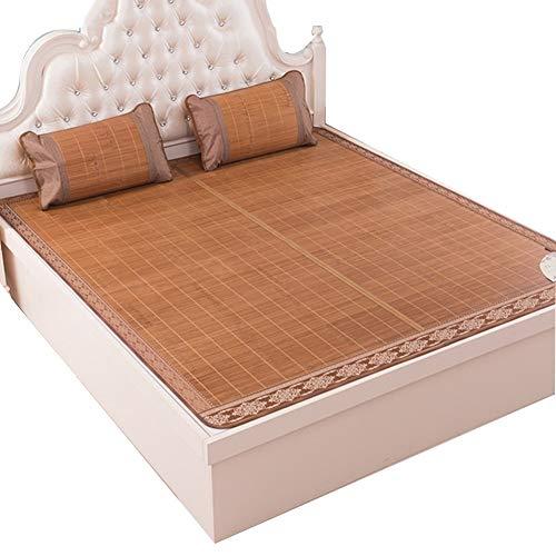 QLIGHA Summer Cool Mattress, Bedding Straw Mat Sleeping Mats Bed-mat Folding Double-Sided Use for Home Bedroom