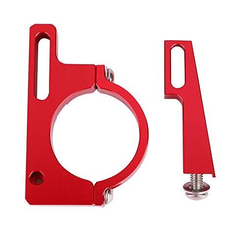 Adaptador de la abrazadera del desviador, Adaptador de la abrazadera del desviador del desviador de la rueda delantera de la bicicleta plegable de aleación de aluminio ultraligero Accesorio(rojo)