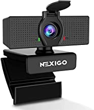 1080P Web Camera, HD Webcam with Microphone & Privacy Cover, 2020 NexiGo N60 USB Computer Camera, 110-degree Wide Angle, Plug and Play, for Zoom/Skype/Teams/OBS, Conferencing and Video Calling