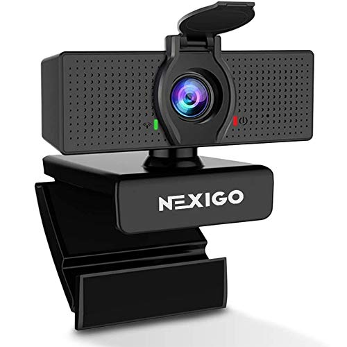 1080P Business Webcam with Microphone & Privacy Cover, 2020 NexiGo N60 USB HD Camera, 110-degree Wide Angle, Plug and Play, Laptop Computer Web Cam for Zoom YouTube Skype FaceTime OBS Teams