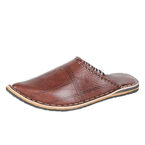 albena Marokko Galerie Unisex marokkanische Schuhe Leder Pantoffel Alibaba (38, Mocca)