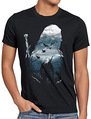 A.N.T. Prévision du Sorceleur T-Shirt Homme temeria Moyen Age, Taille:L