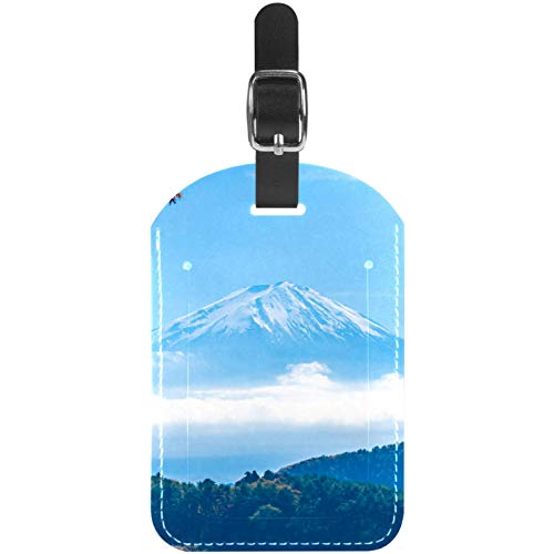 Gepäckanhänger Fuji Mountain Scenery Leder Reise Kofferetiketten 1 Packung
