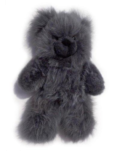Inca Fashions - 100% Baby Alpaca Fur Teddy Bear - Hand Made - Grey - Hypoallergenic & Pillow Soft (12 Inch)