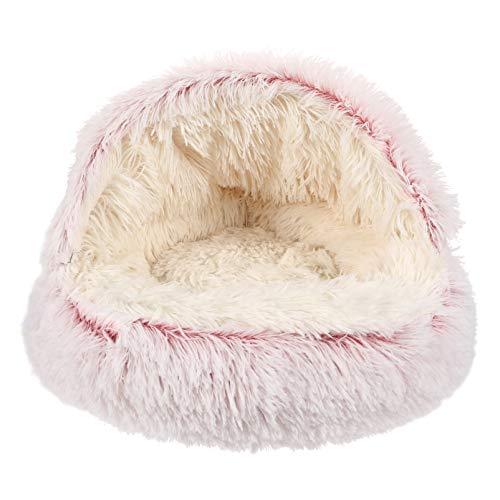 PRETYZOOM Kitten Cave Bed Plush Super Warm Pet Tent Winter Pet Bed Dormir Cojín Casa Suministros para Gato Perro Gatito Cachorro 40Cm