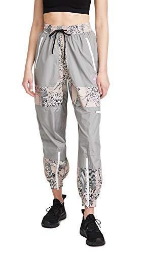adidas by Stella McCartney Women's Printed Track Pants, Pink/Talc/Pearos/Black, Small