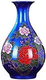 Vase Grave Creative Simplicity - Botella de porcelana para decoración del hogar, diseño moderno de flores, color azul
