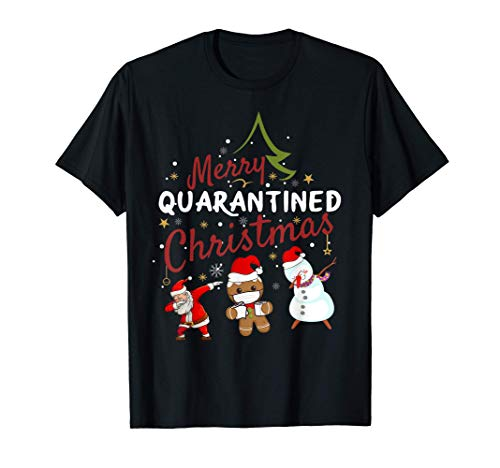 Merry Quarantined Christmas outfit pajama Family Matching pj T-Shirt