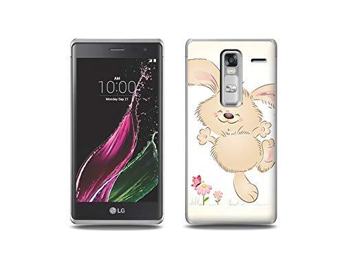 etuo Handyhülle für LG Zero - Hülle, Silikon, Gummi Schutzhülle - Glückliches Kaninchen