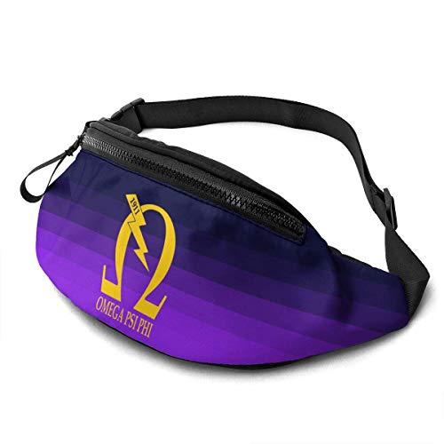 NHCY Omega Psi Phi Lässige Taillentasche Fitness Gürtel Tasche Packung Tasche Tasche für Männer Frauen Kinder Kinder