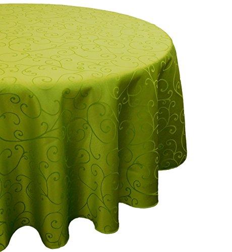 Christmas Concepts 60 Pouces damassé de Vert Lime Ronde Nappe - Accueil Arts de la Table de Noël