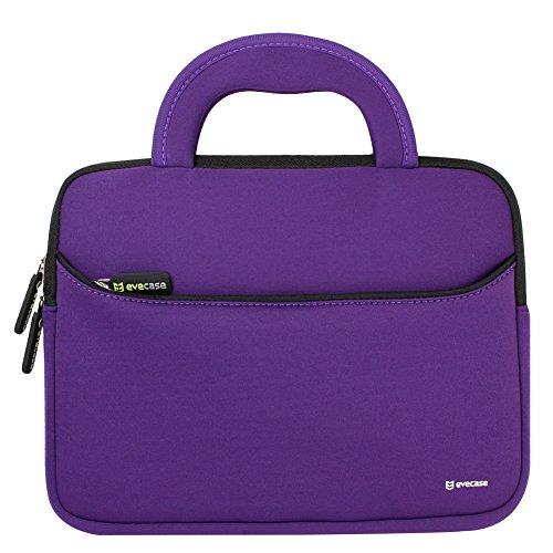 evecase 11,6 Zoll Laptophülle, Universal Neopren Tasche Notebooktasche Hülle mit Handgriff für MacBook Air, Laptop, Chromebook, Ultrabook - Violett
