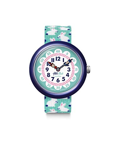 Flik Flak Unisex Analog Schweizer Quarz Uhr mit Textil Armband FBNP151