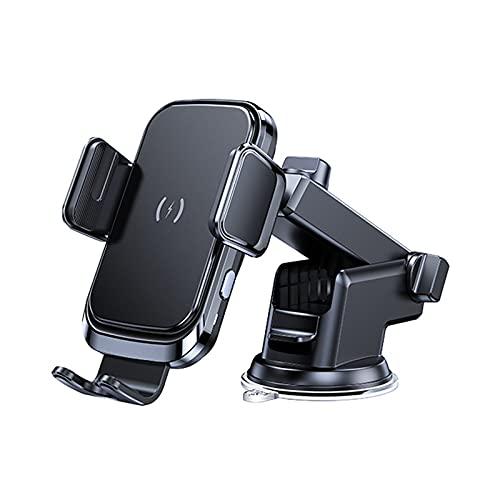 HLVU Soporte para Teléfono para Automóvil con Rotación De 360 ° Soporte De Carga Inalámbrica De Automóviles
