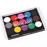 Face Paint Kit,15 Colori per Body Painting Non Tossici Professionale Face Painting Set con Pennello...