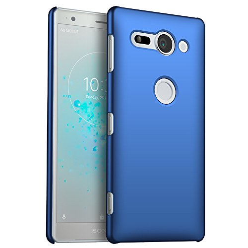 Sony Xperia XZ2 Compact Hülle, Stilvoller Ultradünne Handyhülle. GOGME Hart Schutz Schutzhülle Für Sony Xperia XZ2 Compact. Der Einfachste Und Effektivste Schutz Abdeckung Des Telefon. blau