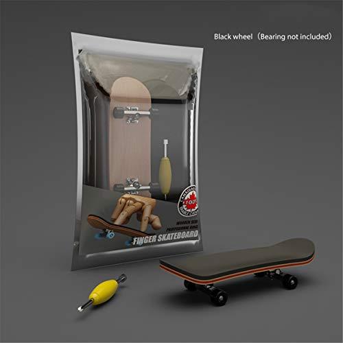 qianber Finger SkateBoard Diapasón de madera de juguete profesional Stents Finger Skate...