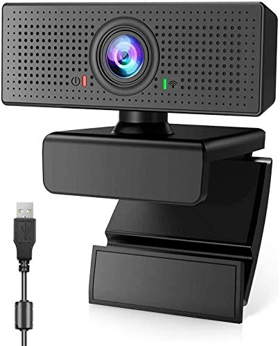 XCH Robots Streaming Webcam with Microphone for HD 1080p, Desktop with Built-in Microphone, Widescreen Video Calling and Recording, Desktop Or Laptop Notebook Webcam (B80)