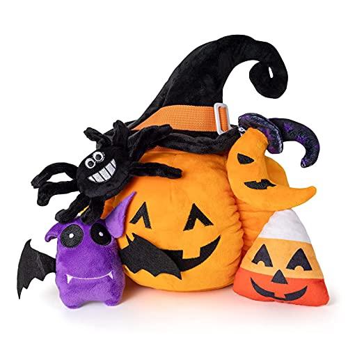SHUKOES Juego De Juguetes Peluche Calabaza, Muñecas Caramelo Luna Calabaza Juguete Regalos, para Niños Pequeños, Calmantes Bebés, Decoración Fiesta Halloween Y Niñas