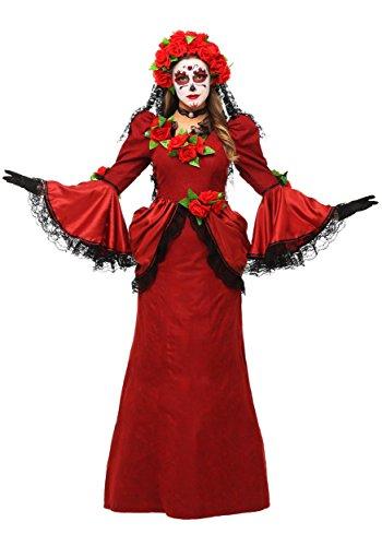 Disfraz de da de los muertos para mujer, talla grande, vestido para el da de los muertos - negro - 4XL